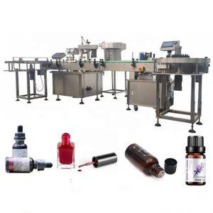 3 KW eterinio aliejaus buteliukų pildymo mašina su siurbimo prevencijos įrenginiu