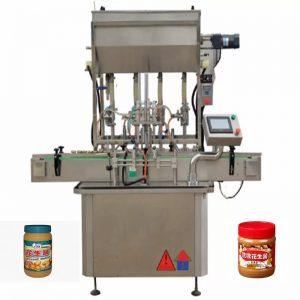 4 purkštukų medaus butelio pildymo mašinos