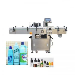 Automatinis dezinfekuojančio skysčio buteliukų ženklinimo aparatas
