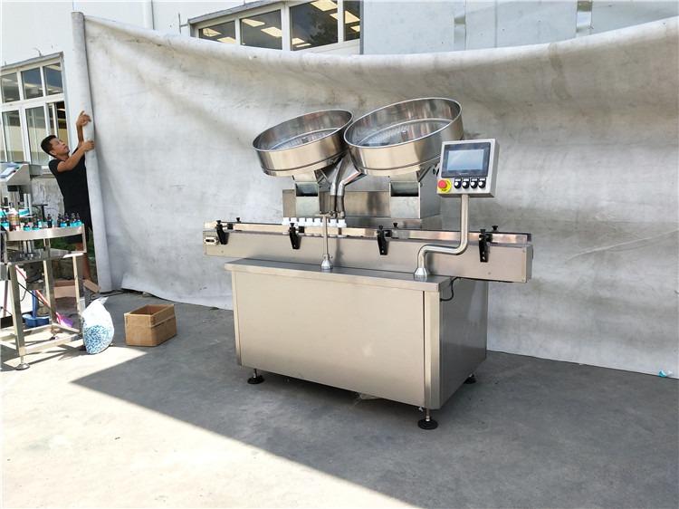 Automatinės nerūdijančio plieno tablečių kapsulių skaičiavimo įpylimo mašinos 2