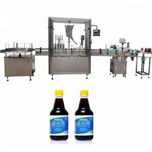 PLC kontrolinis stiklinių butelių uždarymo aparatas su 4 purkštukais