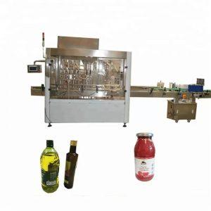 PLC kontroliuojamas PET butelių pildymo ir uždarymo aparatas