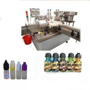 Jutiklinio ekrano mažų butelių etikečių klijavimo mašina