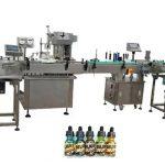Dvi galvos, visiškai automatinės butelių pildymo mašinos, skirtos 30 ml gintaro buteliams